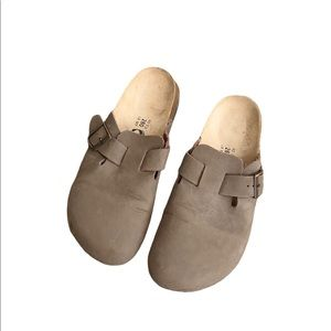 Birkenstock Betula Taupe Boston Clogs Sandals